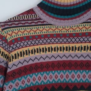 Vintage Multi-Coloured Funky Knit Sweater